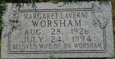 WORSHAM, MARGARET LAVERNE - Colbert County, Alabama | MARGARET LAVERNE WORSHAM - Alabama Gravestone Photos