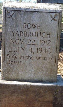YARBROUGH, ROWE - Colbert County, Alabama   ROWE YARBROUGH - Alabama Gravestone Photos