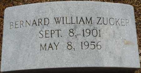 ZUCKER, BERNARD WILLIAM - Colbert County, Alabama | BERNARD WILLIAM ZUCKER - Alabama Gravestone Photos