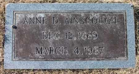 AINSCOUGH, ANNE D - Cullman County, Alabama | ANNE D AINSCOUGH - Alabama Gravestone Photos