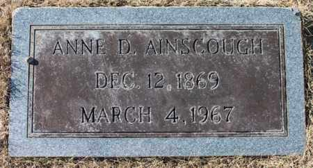AINSCOUGH, ANNE D - Cullman County, Alabama | ANNE D AINSCOUGH - Alabama Gravestone Photos