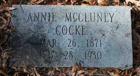MCCLUNEY COCKE, ANNIE - Etowah County, Alabama | ANNIE MCCLUNEY COCKE - Alabama Gravestone Photos