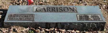 GARRISON, B CROCKETT - Etowah County, Alabama | B CROCKETT GARRISON - Alabama Gravestone Photos