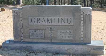 GRAMLING, MATTIE T - Etowah County, Alabama   MATTIE T GRAMLING - Alabama Gravestone Photos