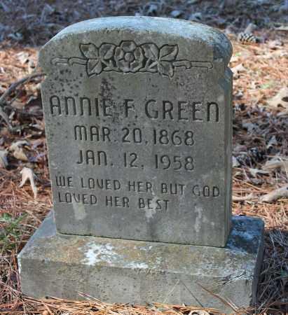 GREEN, ANNIE F - Etowah County, Alabama | ANNIE F GREEN - Alabama Gravestone Photos