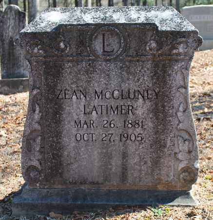 MCCLUNEY LATIMER, ZEAN - Etowah County, Alabama | ZEAN MCCLUNEY LATIMER - Alabama Gravestone Photos