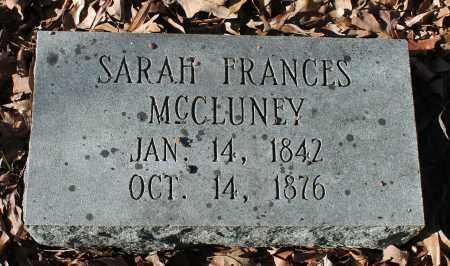 MCCLUNEY, SARAH FRANCES - Etowah County, Alabama | SARAH FRANCES MCCLUNEY - Alabama Gravestone Photos