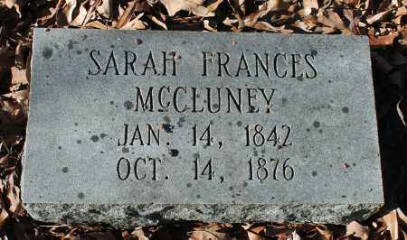 MCCLUNEY, SARAH FRANCES - Etowah County, Alabama | SARAH FRANCES MCCLUNEY - Alabama Gravestone Photos