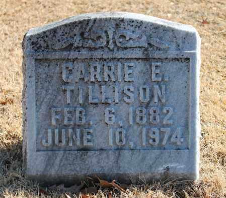 TILLISON, CARRIE E - Etowah County, Alabama   CARRIE E TILLISON - Alabama Gravestone Photos
