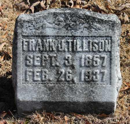 TILLISON, FRANK J - Etowah County, Alabama   FRANK J TILLISON - Alabama Gravestone Photos