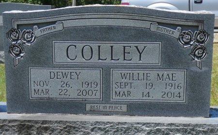 COLLEY, DEWEY - Fayette County, Alabama | DEWEY COLLEY - Alabama Gravestone Photos