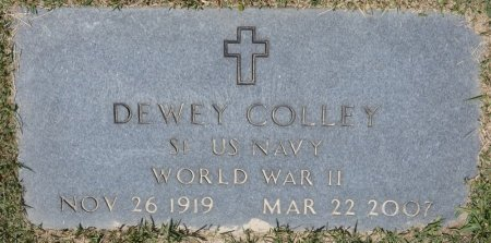 COLLEY (VETERAN WWII), DEWEY (NEW) - Fayette County, Alabama | DEWEY (NEW) COLLEY (VETERAN WWII) - Alabama Gravestone Photos
