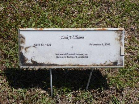 WILLIAMS, JACK - Fayette County, Alabama   JACK WILLIAMS - Alabama Gravestone Photos