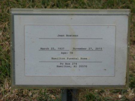 PHILLIPS BOATMAN, JEAN - Franklin County, Alabama | JEAN PHILLIPS BOATMAN - Alabama Gravestone Photos