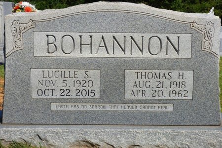 BOHANNON, LUCILLE S - Franklin County, Alabama   LUCILLE S BOHANNON - Alabama Gravestone Photos