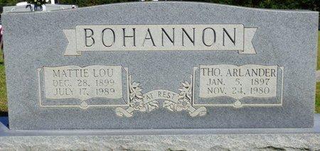 BOHANNON, MATTIE LOU - Franklin County, Alabama   MATTIE LOU BOHANNON - Alabama Gravestone Photos
