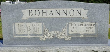BOHANNON, THOMAS ALEXANDER - Franklin County, Alabama | THOMAS ALEXANDER BOHANNON - Alabama Gravestone Photos