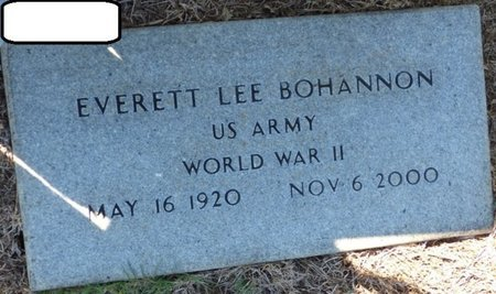 BOHANNON (VETERAN WWII), EVERETT LEE - Franklin County, Alabama | EVERETT LEE BOHANNON (VETERAN WWII) - Alabama Gravestone Photos