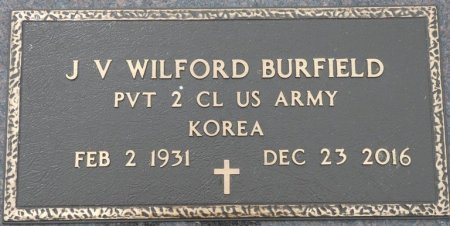 BURFIELD (VETERAN KOR), J.V. WILFORD (NEW) - Franklin County, Alabama | J.V. WILFORD (NEW) BURFIELD (VETERAN KOR) - Alabama Gravestone Photos