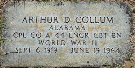 COLLUM (VETERAN WWII), ARTHUR D - Franklin County, Alabama | ARTHUR D COLLUM (VETERAN WWII) - Alabama Gravestone Photos