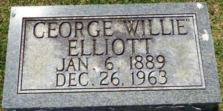 "ELLIOTT, GEORGE ""WILLIE"" - Franklin County, Alabama   GEORGE ""WILLIE"" ELLIOTT - Alabama Gravestone Photos"