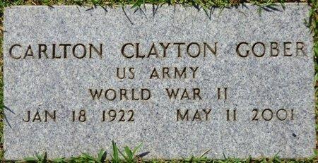 GOBER (VETERAN WWII), CARLTON CLAYTON - Franklin County, Alabama   CARLTON CLAYTON GOBER (VETERAN WWII) - Alabama Gravestone Photos