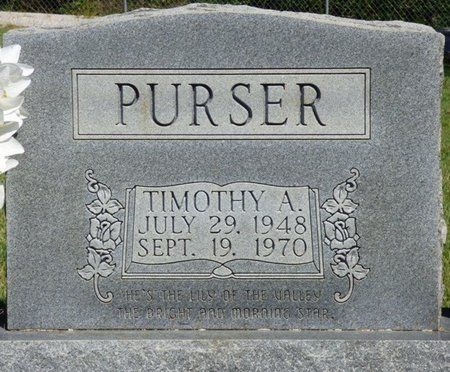PURSER, TIMOTHY A - Franklin County, Alabama | TIMOTHY A PURSER - Alabama Gravestone Photos