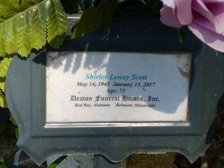 SCOTT, SHIRLEY - Franklin County, Alabama   SHIRLEY SCOTT - Alabama Gravestone Photos