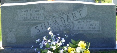 SHEWBART, JAMES ROSCOE - Franklin County, Alabama   JAMES ROSCOE SHEWBART - Alabama Gravestone Photos