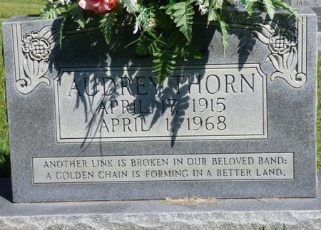 THORN, AUDREY - Franklin County, Alabama | AUDREY THORN - Alabama Gravestone Photos