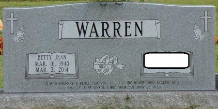 WARREN, BETTY JEAN - Franklin County, Alabama | BETTY JEAN WARREN - Alabama Gravestone Photos