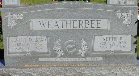 "WEATHERBEE, KERMIT D ""SAM"" - Franklin County, Alabama | KERMIT D ""SAM"" WEATHERBEE - Alabama Gravestone Photos"