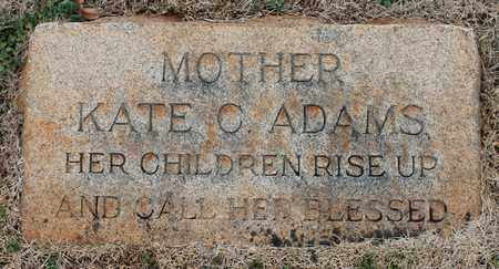 ADAMS, KATE C - Jefferson County, Alabama | KATE C ADAMS - Alabama Gravestone Photos