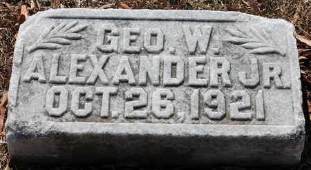 ALEXANDER, JR, GEO W - Jefferson County, Alabama | GEO W ALEXANDER, JR - Alabama Gravestone Photos