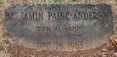 ANDERSON, BENJAMIN PAINE - Jefferson County, Alabama | BENJAMIN PAINE ANDERSON - Alabama Gravestone Photos