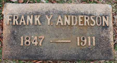 ANDERSON, FRANK Y - Jefferson County, Alabama | FRANK Y ANDERSON - Alabama Gravestone Photos