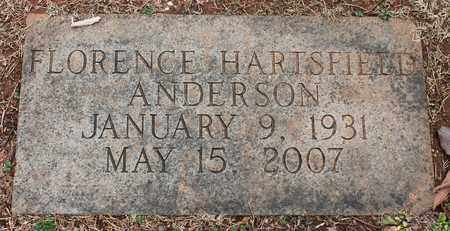 HARTSFIELD ANDERSON, FLORENCE - Jefferson County, Alabama | FLORENCE HARTSFIELD ANDERSON - Alabama Gravestone Photos