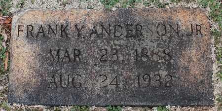 ANDERSON, JR, FRANK Y - Jefferson County, Alabama   FRANK Y ANDERSON, JR - Alabama Gravestone Photos