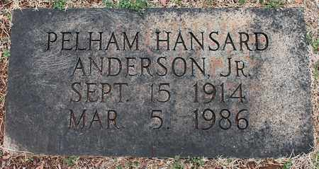 ANDERSON, JR, PELHAM HANSARD - Jefferson County, Alabama | PELHAM HANSARD ANDERSON, JR - Alabama Gravestone Photos