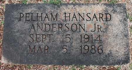 ANDERSON, JR, PELHAM HANSARD - Jefferson County, Alabama | PELHAM HANSARD ANDERSON, JR - Alabama Gravestone Photos