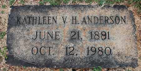 ANDERSON, KATHLEEN V H - Jefferson County, Alabama | KATHLEEN V H ANDERSON - Alabama Gravestone Photos