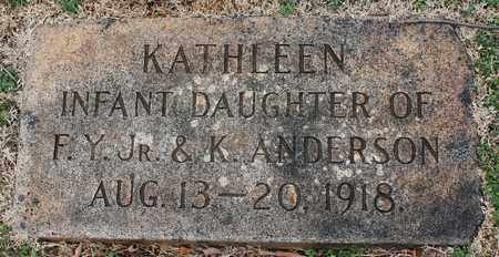 ANDERSON, KATHLEEN - Jefferson County, Alabama | KATHLEEN ANDERSON - Alabama Gravestone Photos