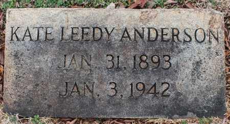 LEEDY ANDERSON, KATE - Jefferson County, Alabama | KATE LEEDY ANDERSON - Alabama Gravestone Photos