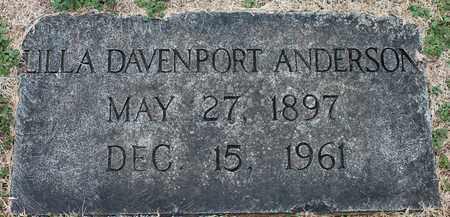 DAVENPORT ANDERSON, LILLA - Jefferson County, Alabama   LILLA DAVENPORT ANDERSON - Alabama Gravestone Photos