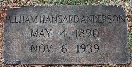 ANDERSON, PELHAM HANSARD - Jefferson County, Alabama | PELHAM HANSARD ANDERSON - Alabama Gravestone Photos