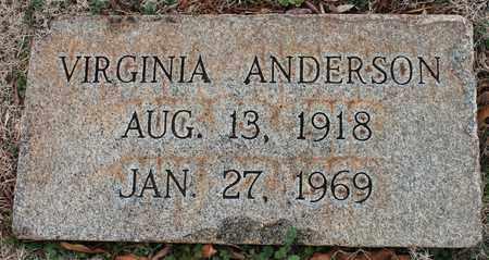 ANDERSON, VIRGINIA - Jefferson County, Alabama | VIRGINIA ANDERSON - Alabama Gravestone Photos