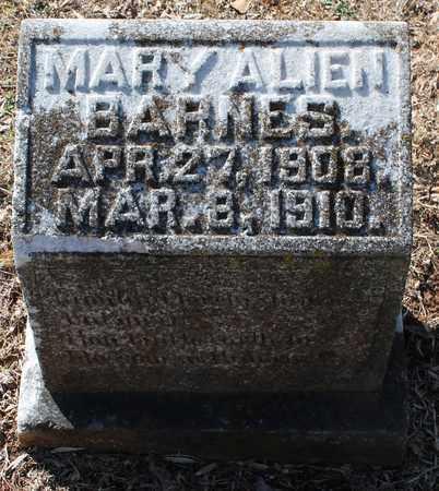 BARNES, MARY ALIEN - Jefferson County, Alabama | MARY ALIEN BARNES - Alabama Gravestone Photos