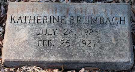 BRUMBACH, KATHERINE - Jefferson County, Alabama | KATHERINE BRUMBACH - Alabama Gravestone Photos