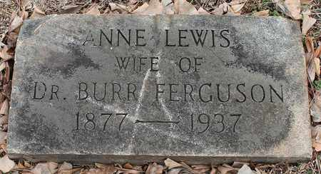 LEWIS FERGUSON, ANNE - Jefferson County, Alabama | ANNE LEWIS FERGUSON - Alabama Gravestone Photos