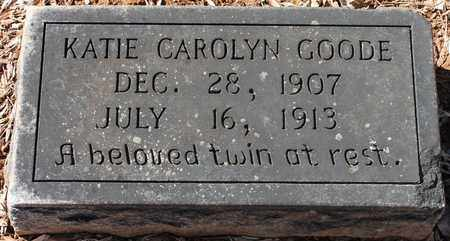 GOODE, KATIE CAROLYN - Jefferson County, Alabama | KATIE CAROLYN GOODE - Alabama Gravestone Photos